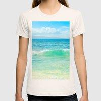 Ocean Blue Beach Dreams Womens Fitted Tee Natural SMALL