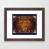 The Greatest Is Love Framed Art Print