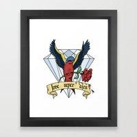 Love Never Dies Swallow Framed Art Print