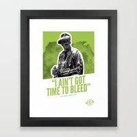 Badass 80's Action Movie Quotes - Predator Framed Art Print