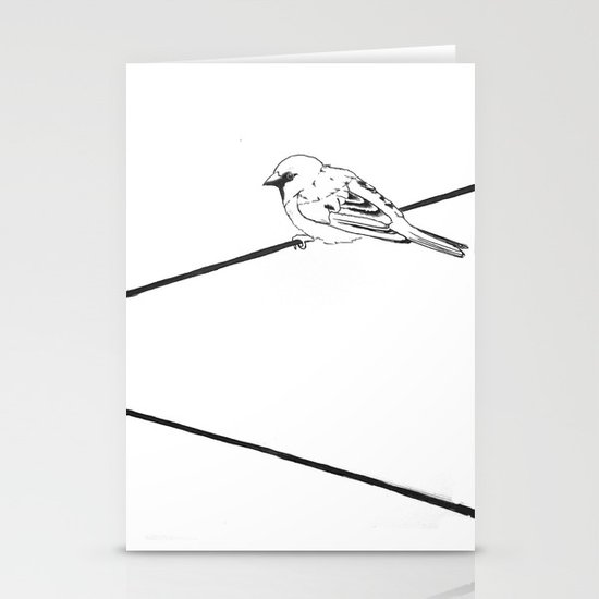 On a Wire Stationery Card