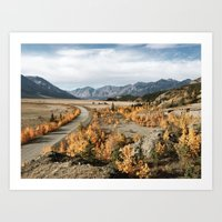 Fall Yukon Valley Art Print
