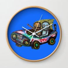 A trip by car Wall Clock