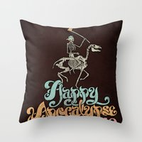 Happy Apocalypse 2012 Throw Pillow