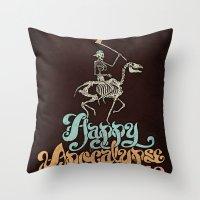 Happy Apocalypse 2012 Throw Pillow