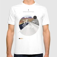 Just don't stop moving Mens Fitted Tee White SMALL