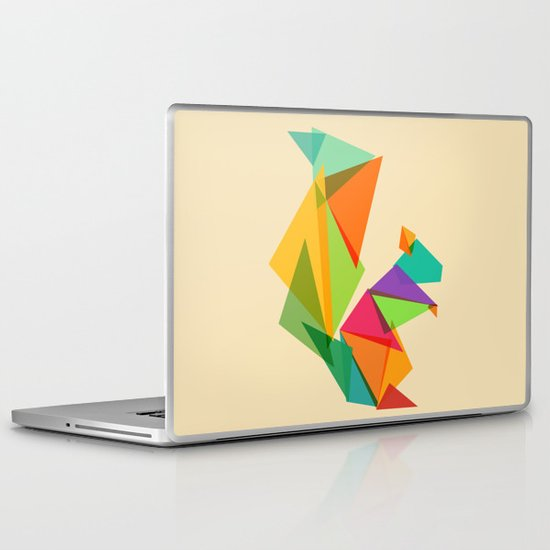 Fractal geometric Squirrel Laptop & iPad Skin