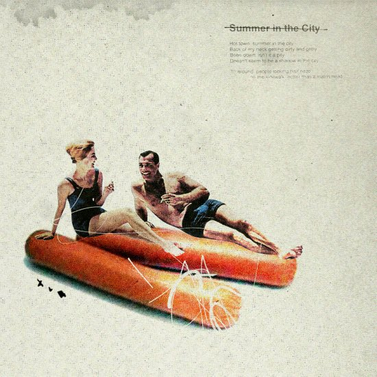 Summer in the City | Collage Art Print