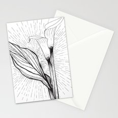 Lily in Black and White Stationery Cards