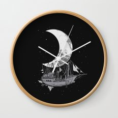 Moon Ship Wall Clock