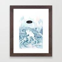 Good sleep Framed Art Print