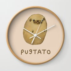 Pugtato Wall Clock