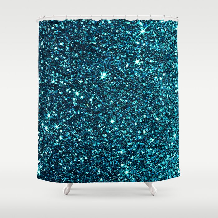 blue sparkle shower curtain by ingrid beddoes society6