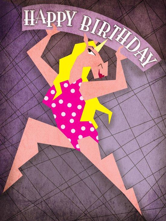 Happy Birthday Unicorn Art Print