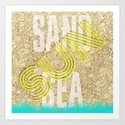 Sand Sea Sun Art Print