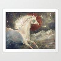 Licorne in Technicolor Art Print