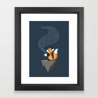 Fox Tea Framed Art Print