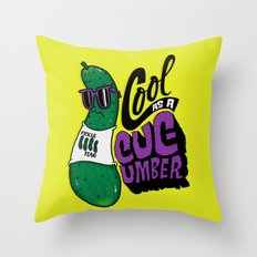 Cool as a Cucumber Throw Pillow