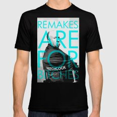 Movie Remakes SMALL Mens Fitted Tee Black