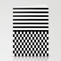 Stripes And Squares Stationery Cards