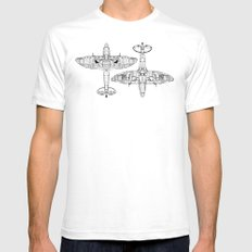 Spitfire Mk. XIV (black) White SMALL Mens Fitted Tee