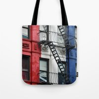 NYC Red White Blue Tote Bag