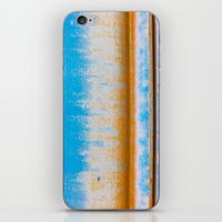 Blue, Yellow and two lines iPhone & iPod Skin