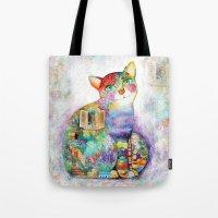 Beautiful Provence Cat Tote Bag