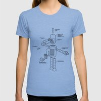 Bender Womens Fitted Tee Athletic Blue SMALL