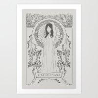 Reine Des Cygnes (Grey) Art Print