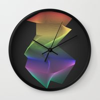 Angular Rainbow Wall Clock