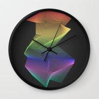 Angular Rainbow Wall Clock