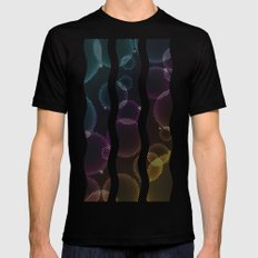 Tech Bubbles Mens Fitted Tee Black SMALL