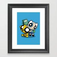 Adventure Puff Buds Framed Art Print