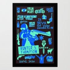 Tribute to Hunter S. Thompson Art Print