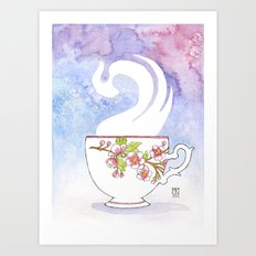 Apple Blossom Cup Art Print