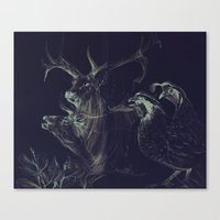 Elk & Quail Canvas Print