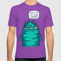 Space Carrot Mens Fitted Tee Ultraviolet SMALL
