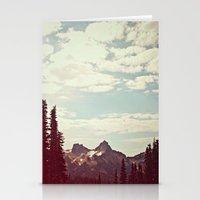 Vintage Mountain Ridge Stationery Cards