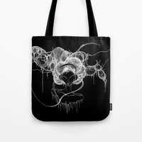 Black and White Headphones Tote Bag