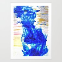Paint in Water Abstract Art Print