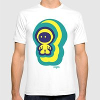 Spaceman 04 Mens Fitted Tee White SMALL