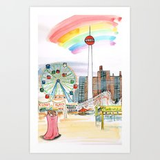 Coney Island, NYC Art Print