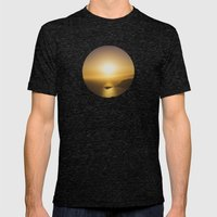 Secret Sunset Mens Fitted Tee Tri-Black SMALL