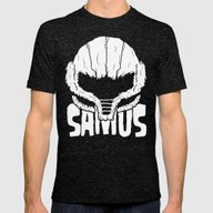 SAMHAIN SAMUS Mens Fitted Tee Tri-Black SMALL