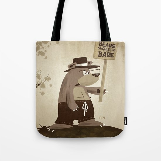 Bears want to be bare Tote Bag