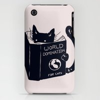 iPhone 3Gs & iPhone 3G Cases featuring World Domination For Cats by Tobe Fonseca