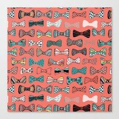 Bow tie geek in pink Canvas Print
