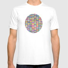 rainbows random Mens Fitted Tee SMALL White