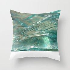 Glass Wave Throw Pillow